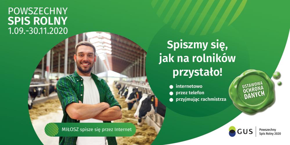 Ilustracja do informacji: Powszechny Spis Rolny startuje 1 września!